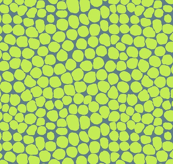 Kaffe Fassett Collective February 2021 -- Fat Quarter of Brandon Mably Jumble in Lime