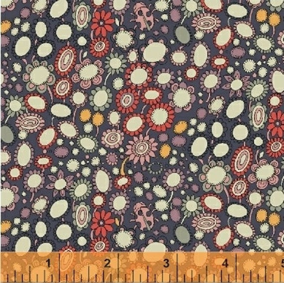 Fantasy by Sally Kelly for Windham Fabrics - Fat Quarter of 51290-2
