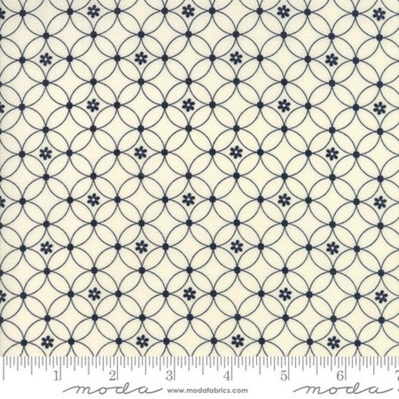 Moda Authentic Etc. -- Black on Cream Garden Gate (567812) by Sweetwater -- Fat Quarter