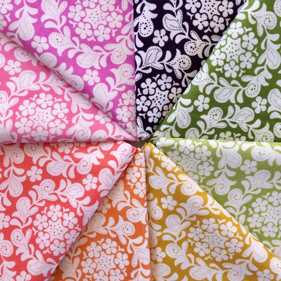 Sandi Henderson Henna Garden Fat Quarter Bundle of 8 Fabrics