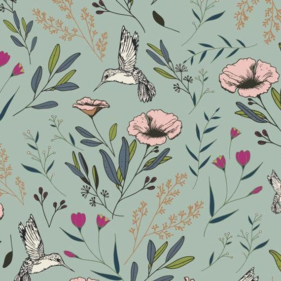 Mystical Land by Maureen Cracknell for Art Gallery Fabrics - Magical Fauna in Mirage