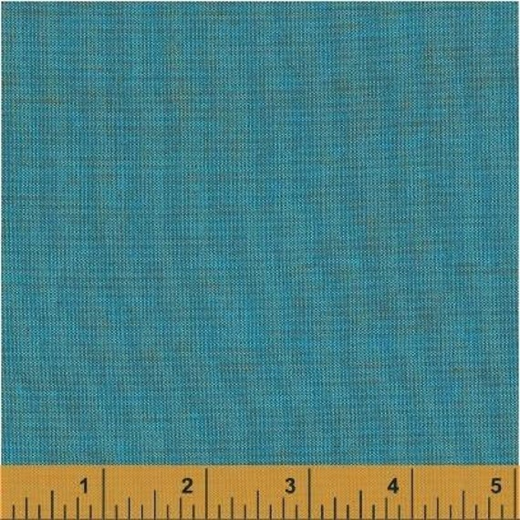 Fat Quarter - Heather Ross Kinder Coordinate - Artisan Cotton - Tuquoise/Copper - Another Point of View for Windham - 40173-1