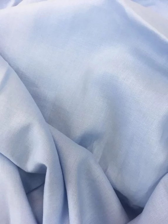 Rossini Linen in Powder Blue - Purchase in 50cm Increments