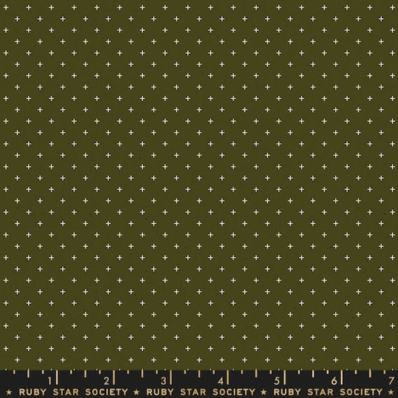 Add It Up and Alma by Alexia Marcelle Abegg -- Ruby Star Society Fabric, RS4005-23 Fat Quarter of Add It Up Mossy