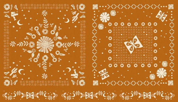 "Ruby Star Golden Hour Collection - Panel in Saddle by Alexia Marcelle Abegg for MODA Fabrics - 24"" x 44"" panel - 100% Cotton - RS4022-13"