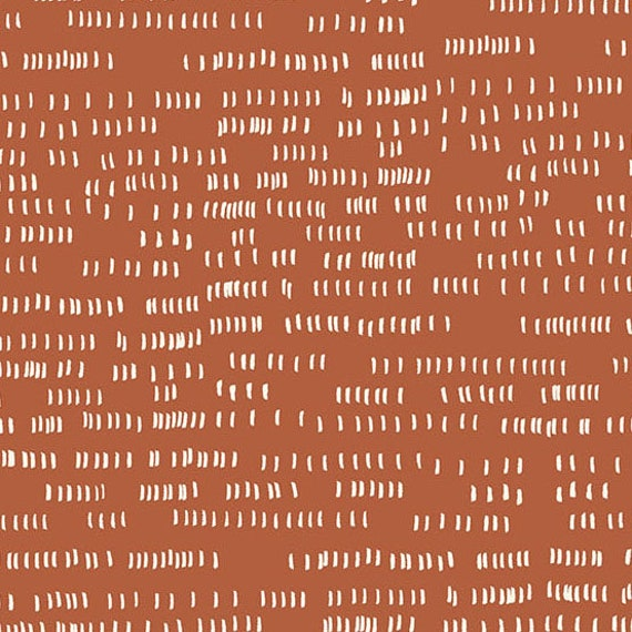 Whiskers and Dash by Sarah Golden for Andover Fabrics - Fat Quarter of Dash in Terracotta (A-9171-O)