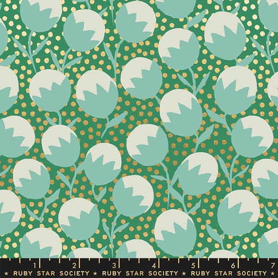 Purl by Sarah Watts -- Wanderlust in Emerald (RS203413M) by Ruby Star Society for Moda -- Fat Quarter