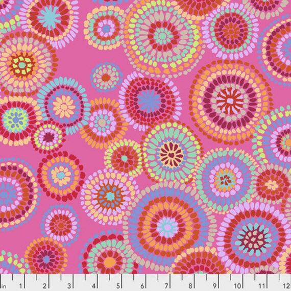 Kaffe Fassett Collective February 2020 -- Fat Quarter of Kaffe Fassett Mosaic Circles in Pink
