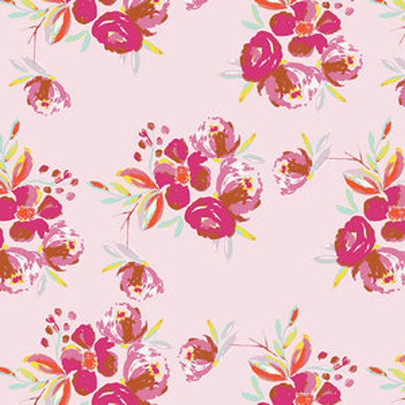 Wild Bloom by Bari J. Ackerman for Art Gallery Fabrics - Corsage Charm in Pink - Fat Quarter