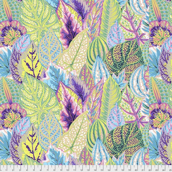 Kaffe Fassett Collective Fall 2018 -- Fat Quarter of Philip Jacobs Coleus in Contrast