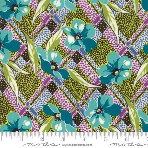 Moda Remix Lilly in Lagoon (1815412) by Jen Kingwell -- Fat Quarter