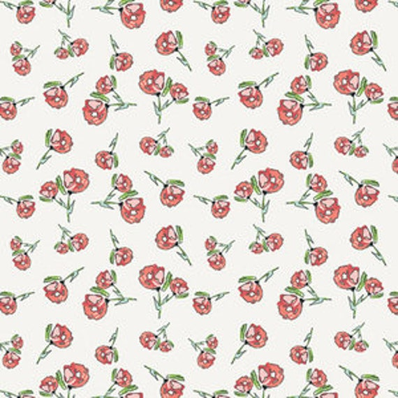 Wild Bloom by Bari J. Ackerman for Art Gallery Fabrics - Lively Rosebuds in Crystal - Fat Quarter