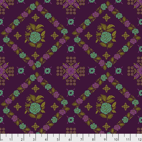 Tambourine by Anna Horner for Free Spirit Fabrics - Cornered in Regal