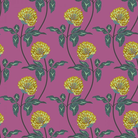 English Summer by Anna Horner for Free Spirit Fabrics - Leaning in Violet