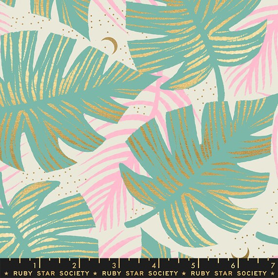 Florida Shade Palms in Water RS2024 12M by Sarah Watts -Ruby Star Society - Fat Quarter