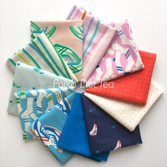 Melody Miller Kicks for Cotton and Steel -- Fat Quarter Bundle of all 11 Quilting Cottons