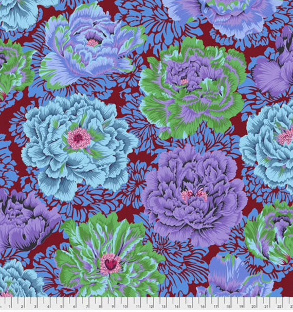 Kaffe Fassett Collective February 2021 -- Fat Quarter of Phillip Jacobs Brocade Peony in Cool