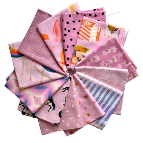 Fat Quarter Bundle of Ruby Star Society Fabrics in Light Putples — 12 in total