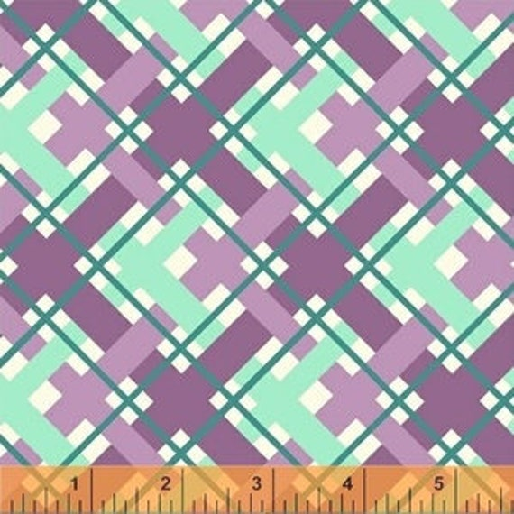 Hello Jane by Allison Harris for Windham Fabrics - Plaid In Lilac - Fat Quarter