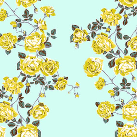 Floral Retrospective by Anna Horner for Free Spirit Fabrics - Social Climber in Ice