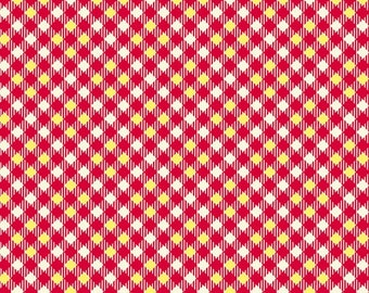 Five and Ten by Denyse Schmidt for Windham Fabrics -- Fat Quarter of Pixy Plaid in Red (52487-7)