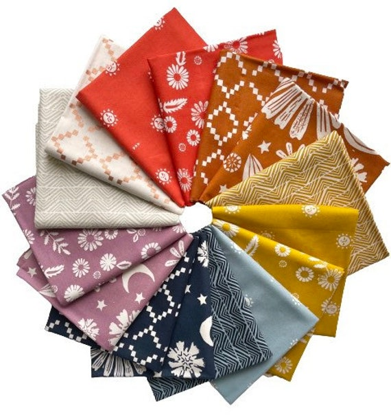 Golden Hour Fat Quarter Bundle by Alexia Marcelle Abegg for Moda's Ruby Star Society
