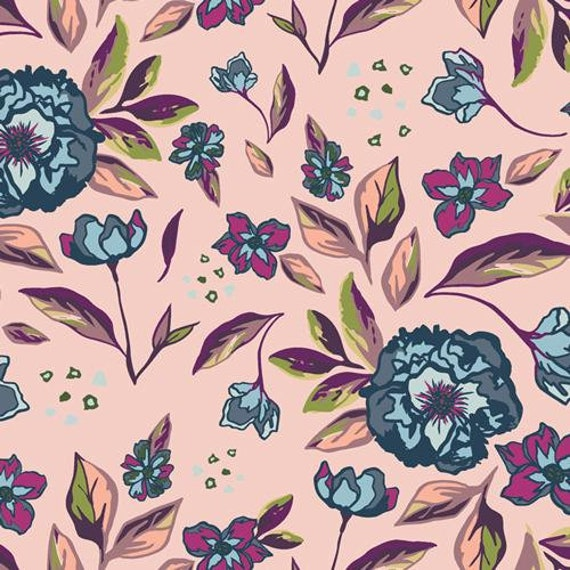 Mystical Land by Maureen Cracknell for Art Gallery Fabrics - Enchanted Flora in Ablush