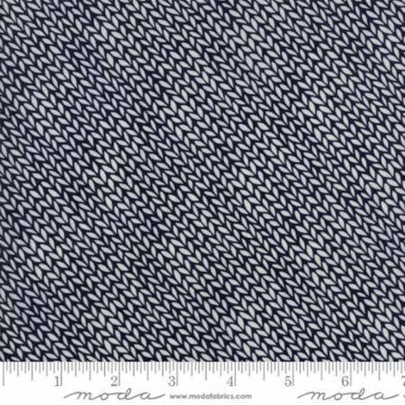 Moda Authentic Etc. -- Black Weave (567612) by Sweetwater -- Fat Quarter