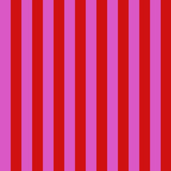Fat Quarter Tent Stripe in Peony  - Tula Pink's All Stars Fabric for Free Spirit Fabrics