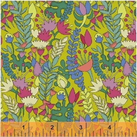 Fantasy by Sally Kelly for Windham Fabrics - Fat Quarter of 51289-3