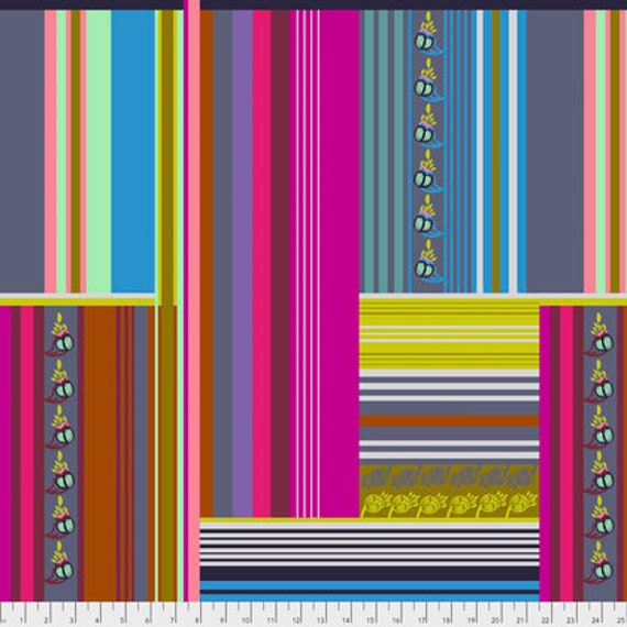 Passion Flower by Anna Horner for Free Spirit Fabrics - Belonging in Magenta