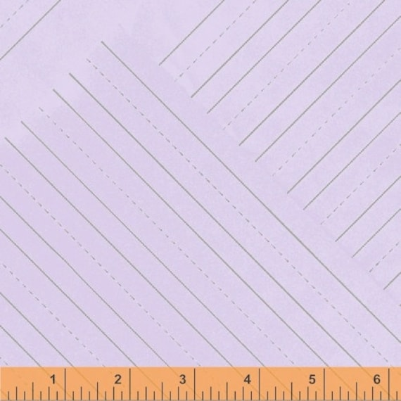 Jot by Heather Givans for Windham Fabrics - Penmanship Paper in Thistle - Fat Quarter