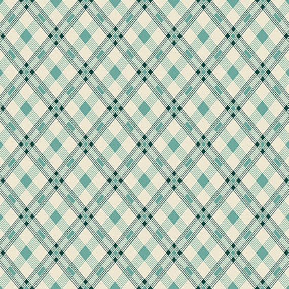 Washington Depot by Denyse Schmidt for Free Spirit Fabrics - Open Plaid in Teal
