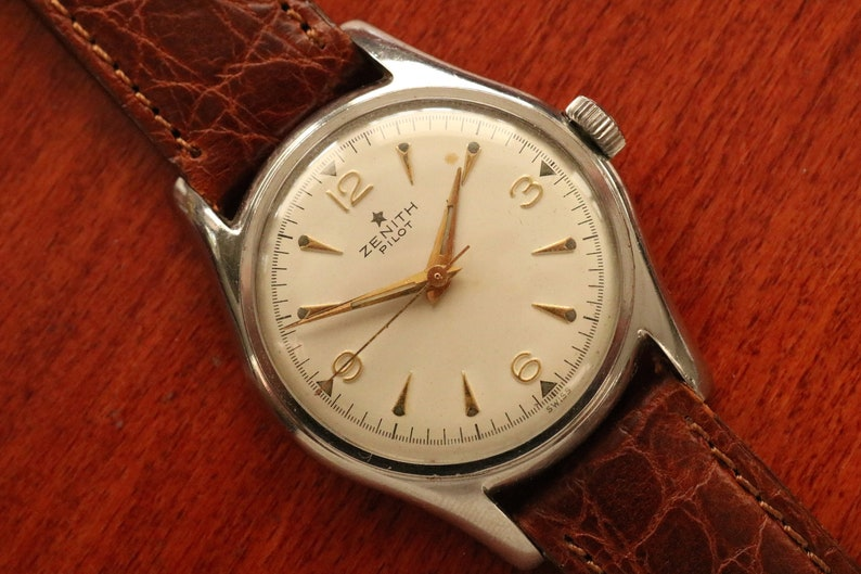 b0a6baecfee ZENITH Vintage 1950s ZENITH Pilot Mens Watch Cal. 126-5-6