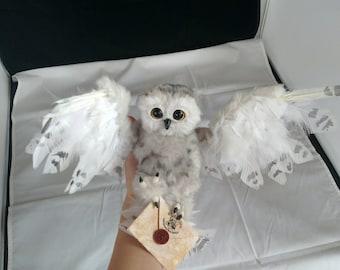EXAMPLE LISTING~ Poseable snowy owl art doll