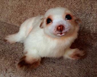 EXAMPLE LISTING~ OOAK Posable handmade Fur Seal Art doll