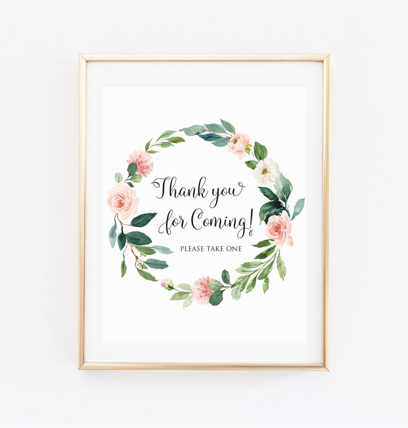 2879561656d6 Thank You For Coming Please Take One 8x10 Printable Shower