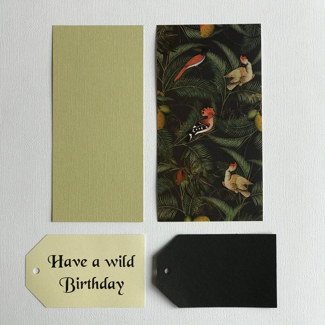 card making ki wild animal card kit card making for  etsy