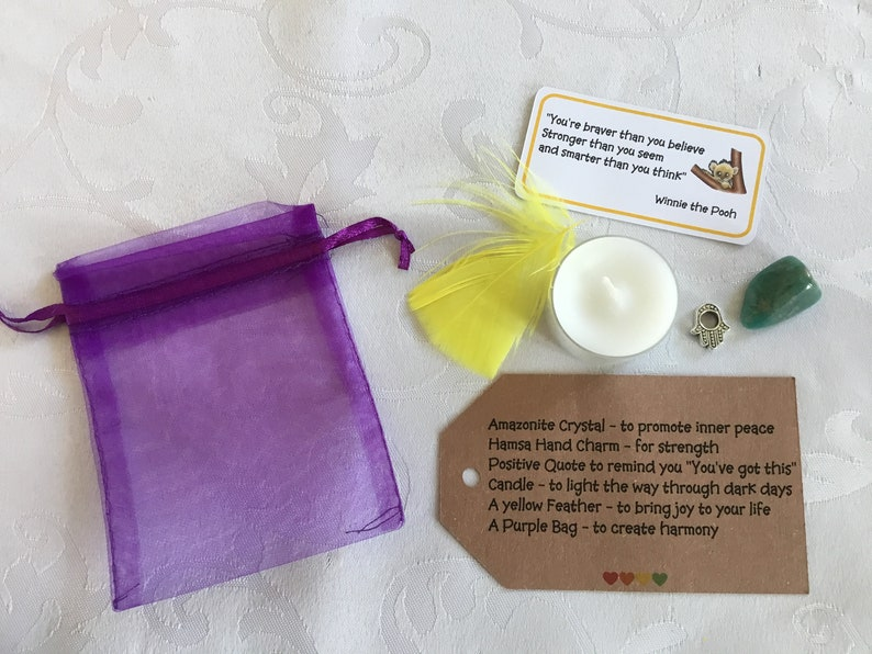 motivational gift Mental Health gift support gift A little bag of inner strength Crystal healing gift