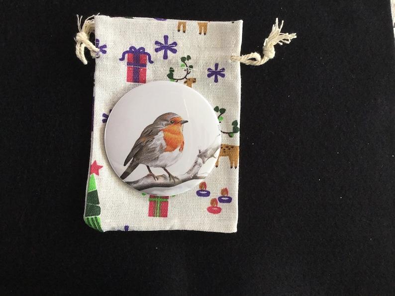 Grey Robin Scarf Birds Wrap Ladies Red Robins Bird Secret Santa Christmas Xmas