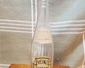 Vintage H.J. HEINZ CO. Ketchup Bottle with Paper Labels.