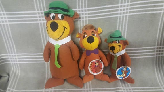 3 Vintage Yogi Bear Plush Toys 1980 Boo Boo Hanna Barbera Etsy