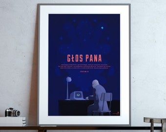 His Master's Voice (Stanisław Lem) classic science fiction poster