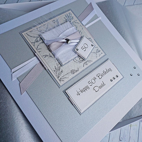 Personalised Boxed 50th Birthday Card For Husband Boyfriend