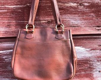 c89e89981cb0 Leather book bag   Etsy