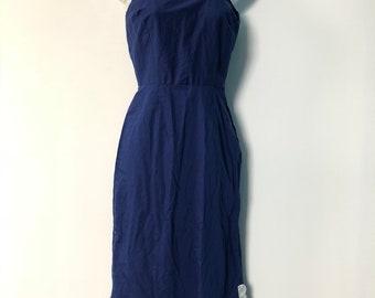 5d7987e1bc638 Size 30 Vintage Navy Blue Full Length Slip. Nylon Slips. Scalloped Hem.  Shadowline. Made in the USA. Nightie. Lingerie. Classic Nightwear.
