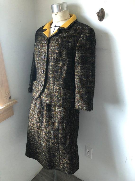 1960s Boucle wool 1960s Pencil skirt Jacket Wool Boucle 60s Jacket and Skirt high waisted skirt wiggle skirt