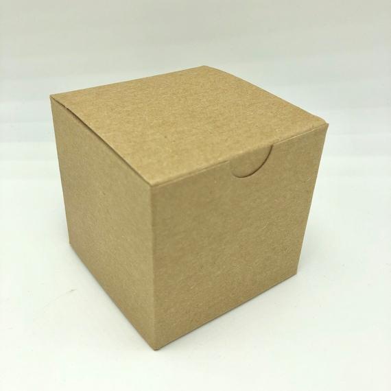 Gift box 3x3x3 easy folding set of 25 red white black or kraft brown boxes