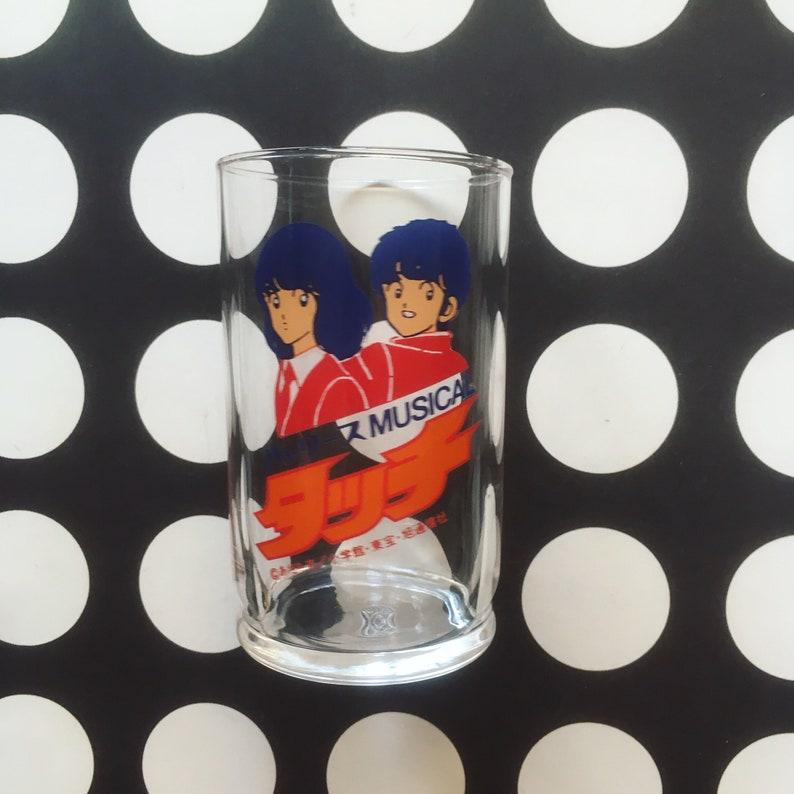 Kawaii manga  anime glass by Adachi Mitsuru in 80s from Japan