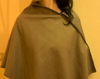 Worsted  wool poncho